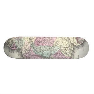 Vintage Map of Brazil (1855) Skateboard Deck