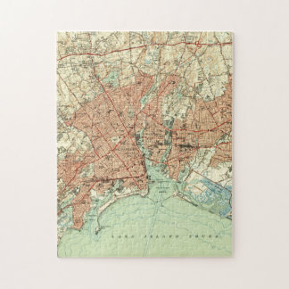 Vintage Map of Bridgeport Connecticut (1951) 2 Jigsaw Puzzle