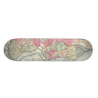Vintage Map of Brooklyn (1868) Skate Board Decks