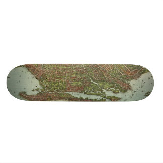 Vintage Map of Brooklyn NY (1908) Custom Skate Board