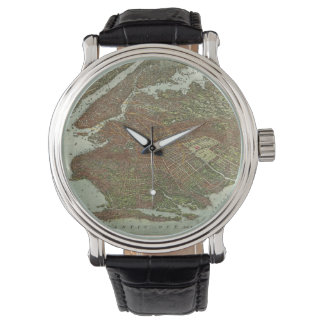 Vintage Map of Brooklyn NY (1908) Wristwatches