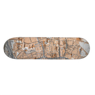 Vintage Map of Bruges (1905) Skate Board Decks