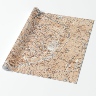 Vintage Map of Brussels (1905) Wrapping Paper