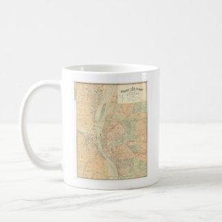 Vintage Map of Budapest Hungary (1884) Coffee Mug