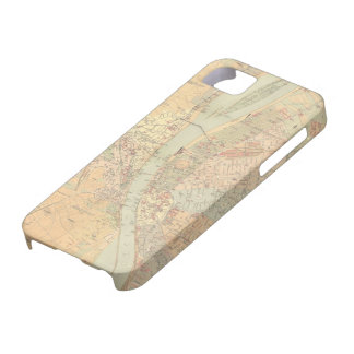 Vintage Map of Budapest Hungary (1884) iPhone 5 Cases