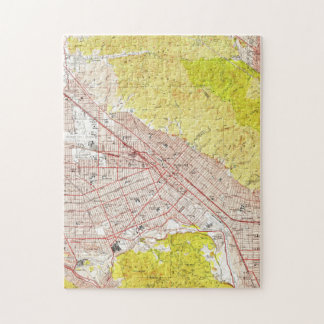 Vintage Map of Burbank California (1953) Jigsaw Puzzle