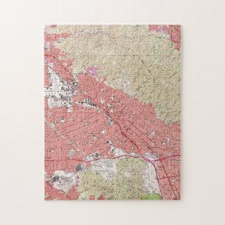 Vintage Map of Burbank California (1966) Jigsaw Puzzle