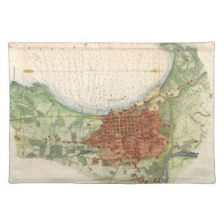 Vintage Map of Burlington Vermont (1763) Place Mat