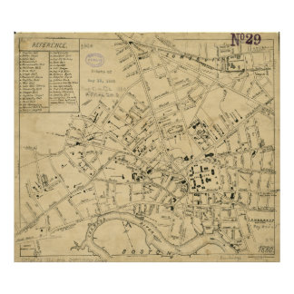 Vintage Map of Cambridge Massachusetts (1880) Poster