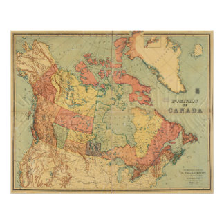 Vintage Map of Canada (1898) Poster