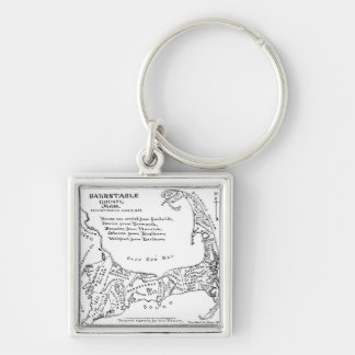 Vintage Map of Cape Cod (1890) Keychain