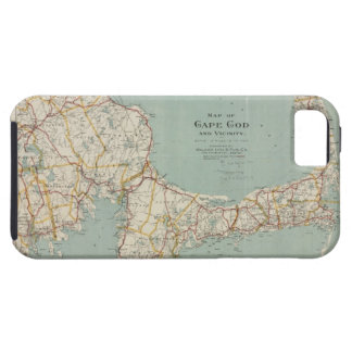 Vintage Map of Cape Cod (1917) iPhone 5 Cases