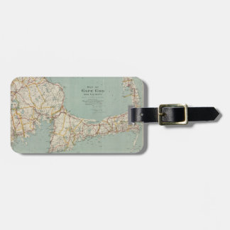 Vintage Map of Cape Cod (1917) Luggage Tag