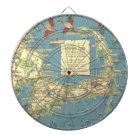 Vintage Map of Cape Cod (1940) Dartboard