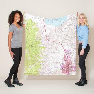 Vintage Map of Carson City & Washoe Lake NV (1968) Fleece Blanket