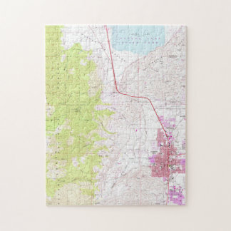 Vintage Map of Carson City & Washoe Lake NV (1968) Jigsaw Puzzle