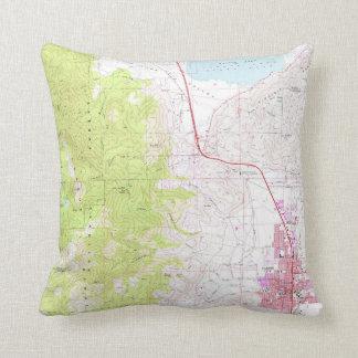 Vintage Map of Carson City & Washoe Lake NV (1968) Throw Pillow