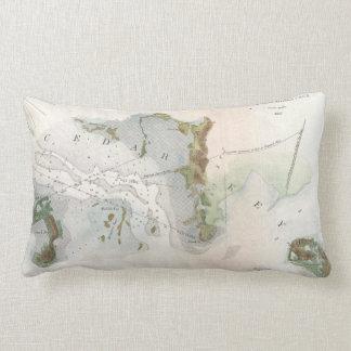 Vintage Map of Cedar Key Florida (1852) Lumbar Pillow