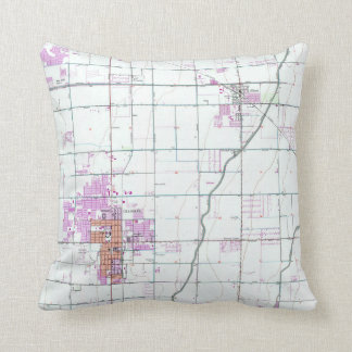 Vintage Map of Chandler & Gilbert Arizona (1952) Throw Pillow