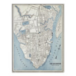 Vintage Map of Charleston South Carolina (1898) Poster