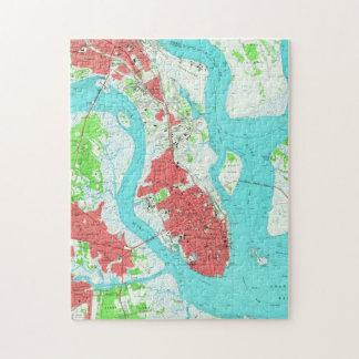 Vintage Map of Charleston South Carolina (1958) 2 Jigsaw Puzzle