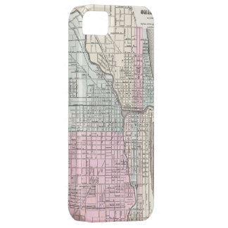 Vintage Map of Chicago (1855) iPhone 5 Cases