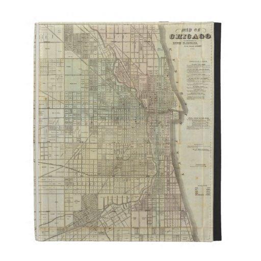 Vintage Map of Chicago (1857) iPad Folio Cases