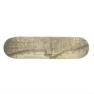 Vintage Map of Chicago (1857) Skateboard Decks