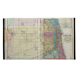 Vintage Map of Chicago (1869) iPad Folio Covers