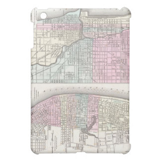 Vintage Map of Chicago and St. Louis (1855) Case For The iPad Mini