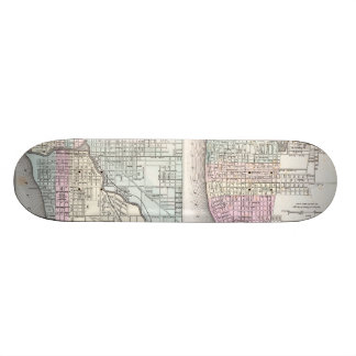 Vintage Map of Chicago and St Louis (1855) Custom Skateboard
