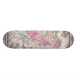 Vintage Map of China (1862) Skate Board Decks