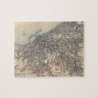 Vintage Map of Cleveland (1904) Jigsaw Puzzle