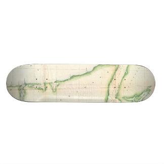 Vintage Map of Coastal Washington State (1857) Skateboard Deck