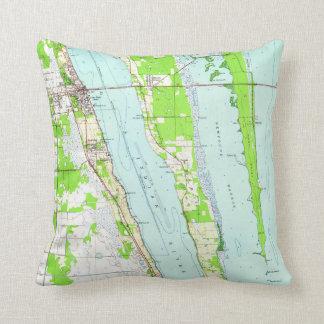 Vintage Map of Cocoa Florida (1949) Throw Pillow