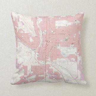 Vintage Map of Colorado Springs CO (1961) 2 Throw Pillow