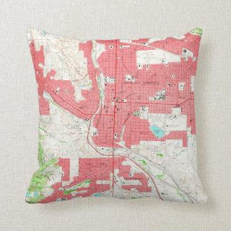 Vintage Map of Colorado Springs CO (1961) Throw Pillow