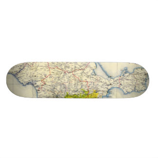 Vintage Map of Crimea (1922) Skateboard Decks