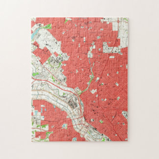 Vintage Map of Dallas Texas (1958) 2 Jigsaw Puzzle