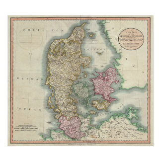Vintage Map of Denmark (1801) Poster