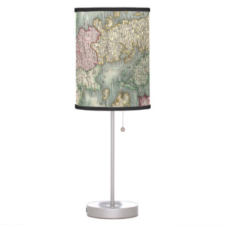Vintage Map of Denmark (1801) Table Lamp