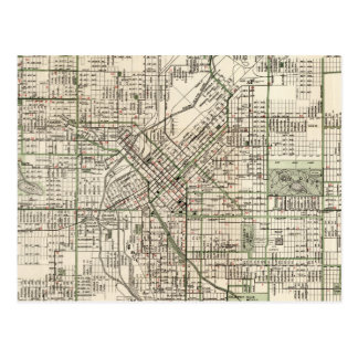 Vintage Map of Denver Colorado (1920) Postcard