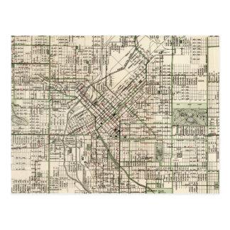 Vintage Map of Denver Colorado (1920) Postcard