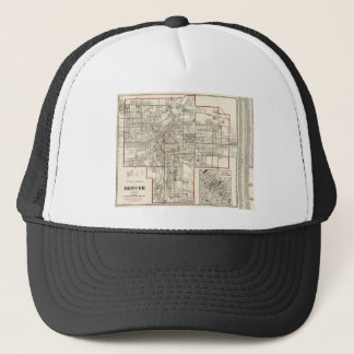 Vintage Map of Denver Colorado (1920) Trucker Hat