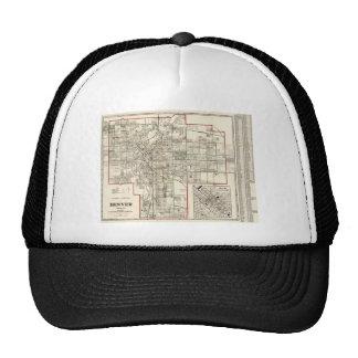 Vintage Map of Denver Colorado (1920) Trucker Hat