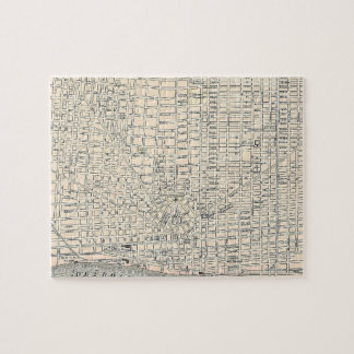 Vintage Map of Detroit (1895) Jigsaw Puzzle