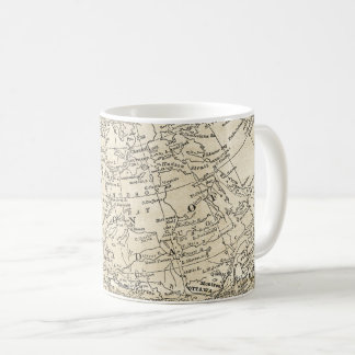 Vintage Map of Dominion of Canada Travel Gift Coffee Mug
