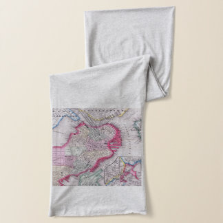 Vintage Map of Downtown Boston (1864) Scarf