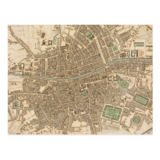 Vintage Map of Dublin 1836 Postcard