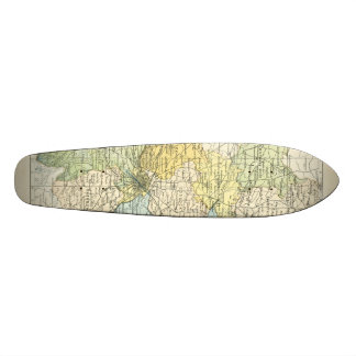 Vintage Map of Dublin and Surrounding Areas (1900) Custom Skate Board